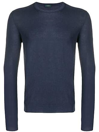 Zanone Suéter decote arredondado - Azul