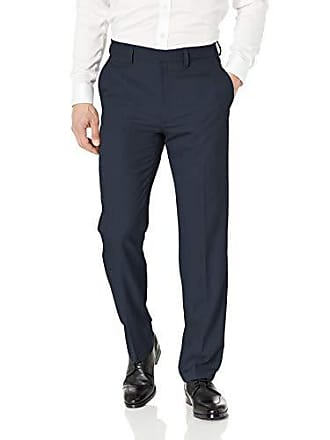 Haggar Mens Solid Gab Stretch Tailored Fit Suit Separate Pant, Navy, 40Wx32L