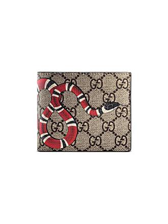 Gucci Carteira GG Supreme com estampa Kingsnake - Neutro