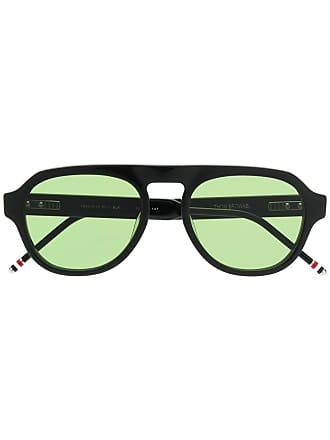 55b7677a2985 Thom Browne aviator shaped sunglasses - Black