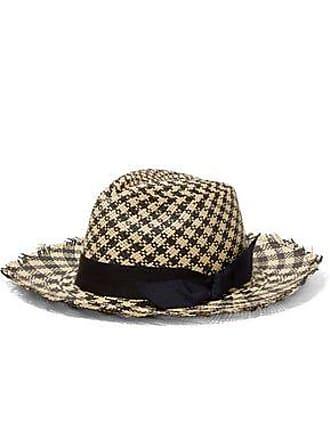 Sensi Studio Sensi Studio Woman Two-tone Toquilla Straw Panama Hat Ecru Size S