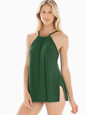 Magic Suit By Miraclesuit Solid Parker Convertible Swim Dress, Olive Moss, Size 8, from Soma