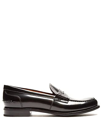 2ebed3dde2e Churchs Pembrey Leather Penny Loafers - Womens - Black