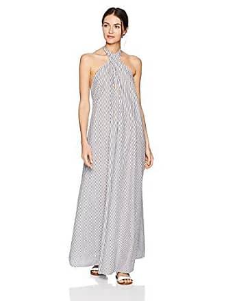 Mara Hoffman Womens Lucille Halter Cover Up Dress, Stripe Black White, Medium
