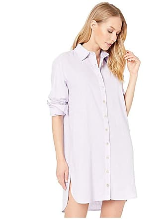 dd1ad6c810 Maaji Pink Floret Long Shirtdress Cover-Up (Lavender Purple Linen) Womens  Swimwear