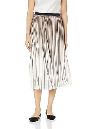 Nic+Zoe Womens Pleat Pattern Skirt, Multi, 2