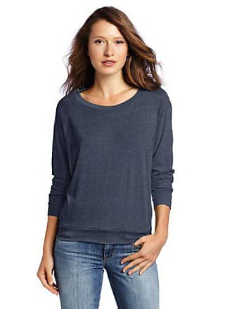 Alternative Womens Slouchy Pullover Sweatshirt, Eco True Navy, X-Large