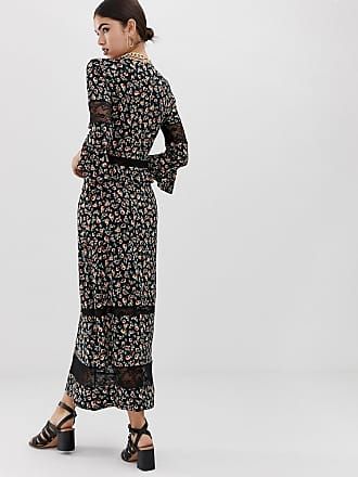 4f229351c71 Asos city maxi tea dress with lace inserts in ditsy print - Multi