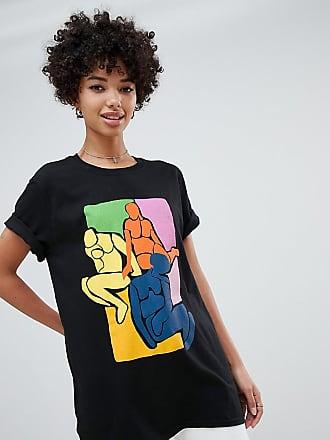 9af9c64f71298 Reclaimed Vintage inspired - T-shirt à imprimé artistique de corps - Noir
