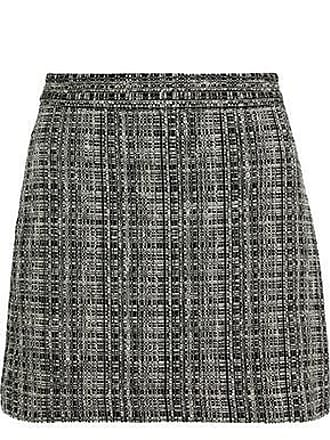 Milly Milly Woman Modern Cotton-blend Tweed Mini Skirt Dark Gray Size 6