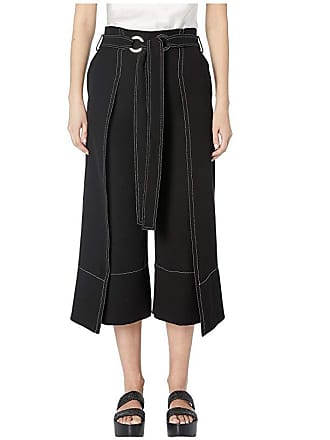 Yigal AzrouËl Wrapped Front Pants with Tie Detail (Black) Womens Casual Pants