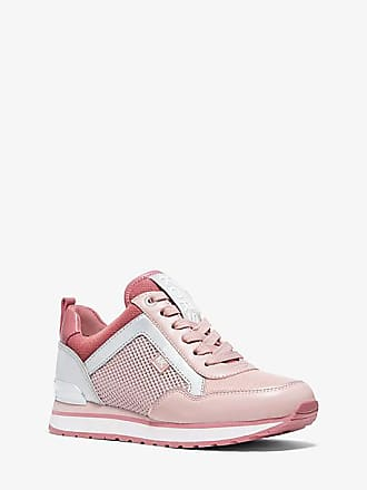 Michael Kors Maddy Leather And Mesh Trainer