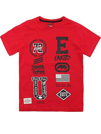 Ecko Camiseta Ecko Menino Escrita Vermelha