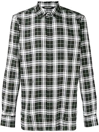 Neil Barrett tartan pattern shirt - Preto