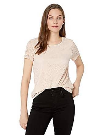 1ae3033fd8f800 Calvin Klein Womens Short Sleeve Floral Lace Tee, Blush, Small