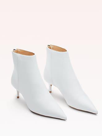 Alexandre Birman Kittie 50 Leather Bootie - 35.5 White Tuscan Leather