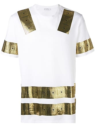 Versace Collection t-shirt à imprimé métallisé - Blanc f2bb74c528b