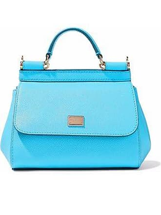 33173616ca Dolce   Gabbana Dolce   Gabbana Woman Sicily Textured-leather Shoulder Bag  Light Blue Size