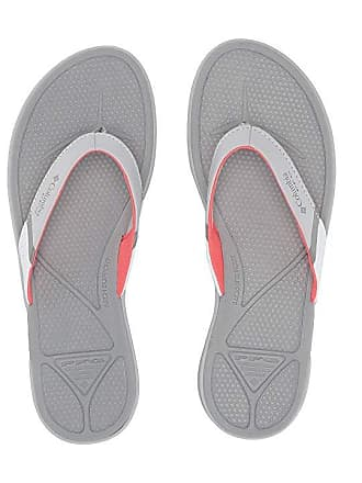 215172494441 Columbia Rostratm PFG (Grey Ice Red Coral) Womens Sandals