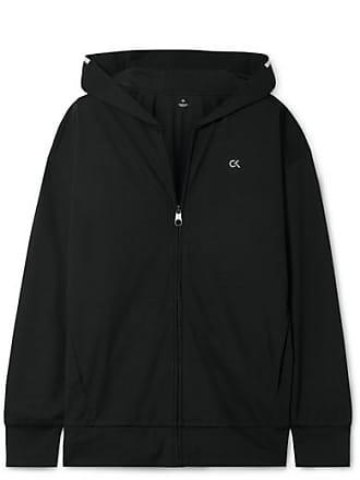 Calvin Klein Fz Jersey Hoodie - Black
