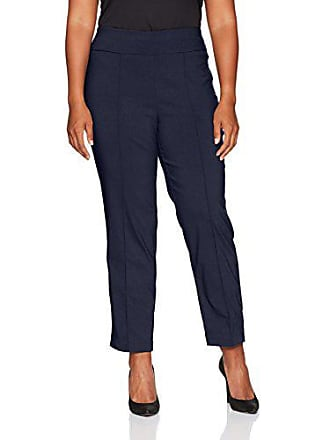 Ruby Rd. Womens Plus-Size Pull-on Solar Millennium Tech Ankle Pant, Navy, 20W