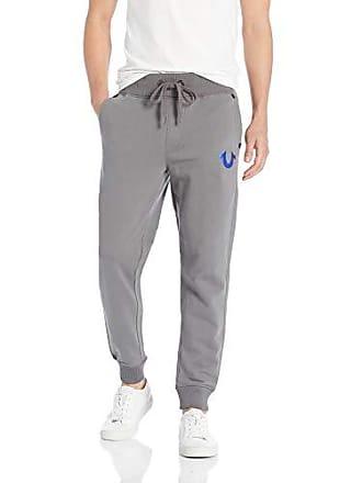 e99cf797c2 True Religion Mens Metallic FOIL Buddha Slim Cuff Sweatpant, Charcoal Blue,  M