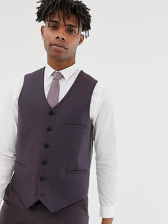 Heart & Dagger slim suit vest in brown - Brown