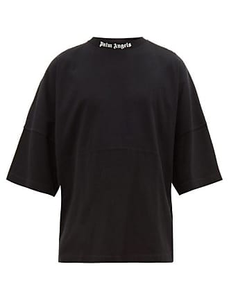 Palm Angels Oversized Logo Print Cotton T Shirt - Mens - Black