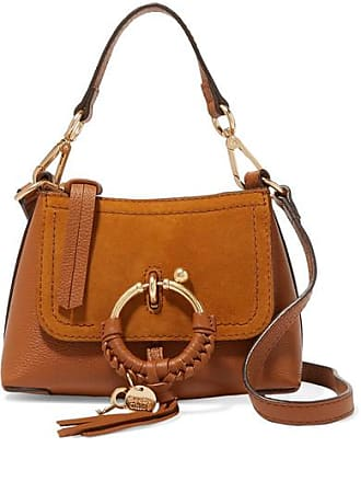 See By Chloé Joan Mini Textured-leather And Suede Shoulder Bag - Tan