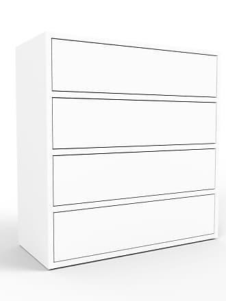 MYCS Kommode Weiß - Design-Lowboard: Schubladen in Weiß - Hochwertige Materialien - 77 x 80 x 35 cm, Selbst zusammenstellen