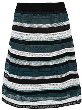 7e8c0d6e2e M Missoni M Missoni Woman Striped Crochet-knit Skirt Petrol Size 42