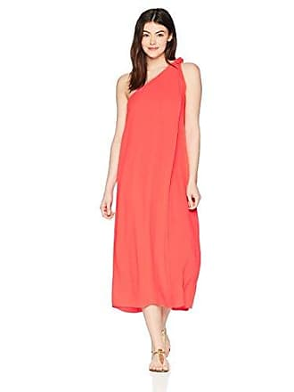 c806f21606 Mara Hoffman Womens Camilla One Shoulder Cover Up Dress, Red, Small