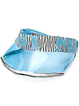 Missoni intarsia logo beach hat - Azul