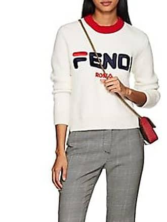 5c573a9839b2 Fendi Womens Fendi Mania Crewneck Sweater - White Size 38 IT