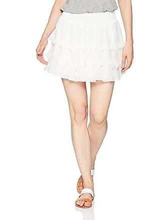 Ramy Brook Womens Betsy Pleated Mini Skirt, Ivory, Medium