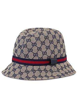 57fcbcd31b7 Gucci Kids GG Supreme Canvas Bucket Hat w  Web Hat Band