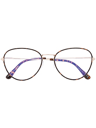Tom Ford Eyewear tortoiseshell thin frame glasses - Brown