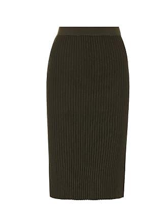 Victoria Beckham Ribbed-knit wool skirt