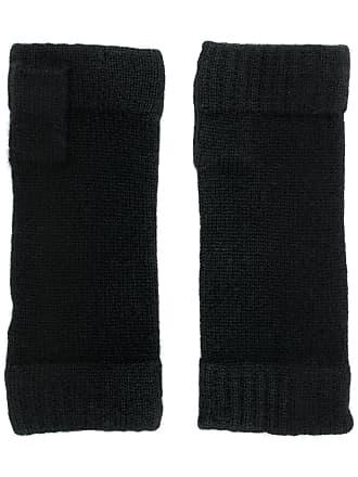 N.Peal Par de luvas em tricô - Preto