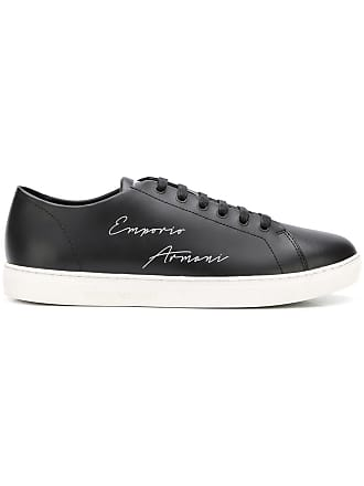 6f4aaad285d Emporio Armani lace up logo sneakers - Black