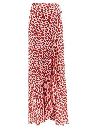 1b2bccb86 Adriana Degreas Baccio Lip Print Midi Wrap Skirt - Womens - Red White