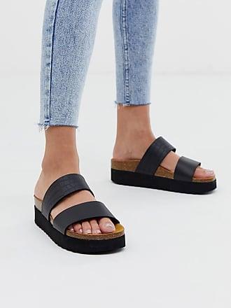 1ae978e16953 Office Magnetic black croc mix slider flat sandals