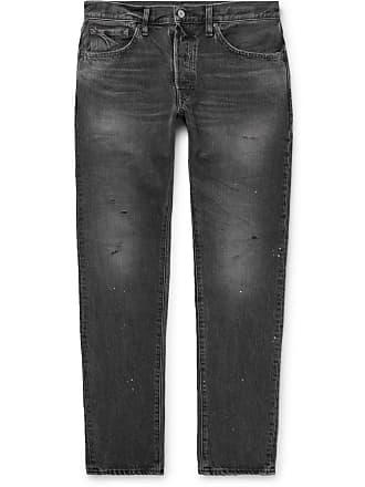 Fabric Brand & Co. Blake Slim-fit Distressed Denim Jeans - Gray