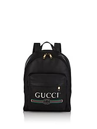 446e061f7f2 Gucci Mens Logo Leather Backpack - Black