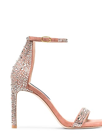 Stuart Weitzman Desert Rose Suede And Crystal