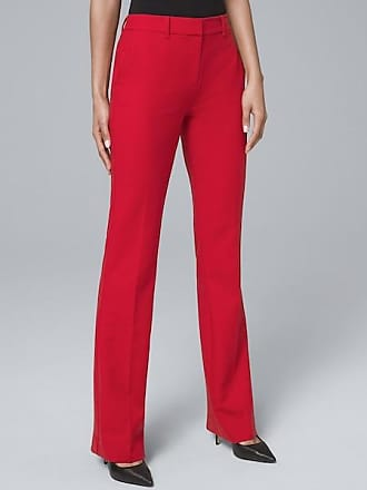 White House Black Market Womens Luxe Suiting Bootcut Pants by White House Black Market, Roman Red, Size 14 - Regular