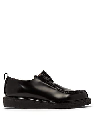 Ami Ami - High Shine Leather Derby Shoes - Mens - Black