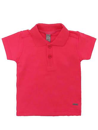 Tigor T. Tigre Camisa Polo Tigor T. Tigre Manga Curta Bebê Menino Rosa