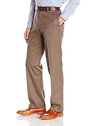 Dockers Mens Refined Khaki Classic Fit Flat Front Pant, Addison/Cedar Ash - discontinued, 34W x 29L