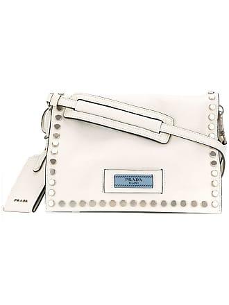 Prada Bolsa tiracolo Etiquette - Branco